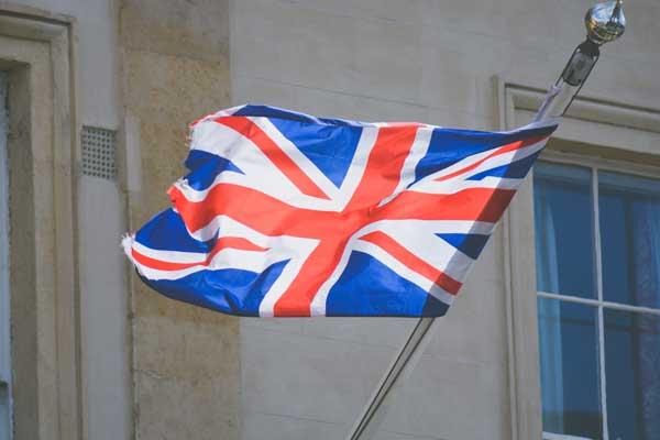 bandiera inglese a londra