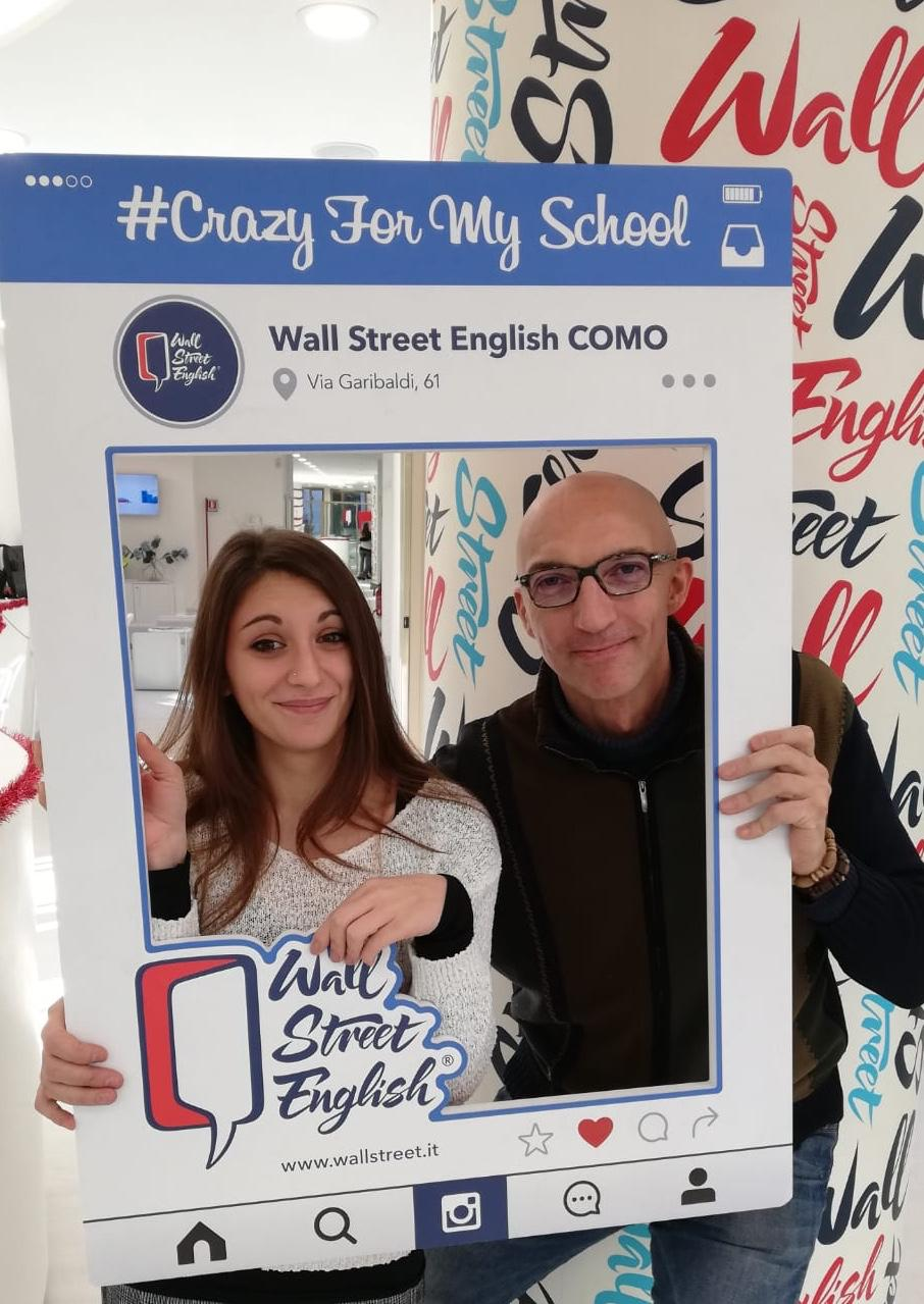 la recensione di Enrico, studente Wall street english Como